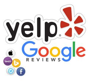 Local Listings Yelp, Google Maps, Yahoo, Apple, City Search