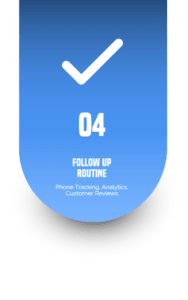 Follow Up Routine Phone Tracking, Analytics, Customer Online Reviews