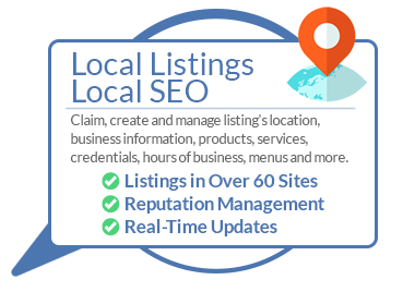 Local Listings Local SEO Claim, create and manage listing's location, business information, products, services, credentials, hours of business, menus and more. ✅ Listings in Over 60 Sites ✅ Reputation Management ✅ Real-Time Updates