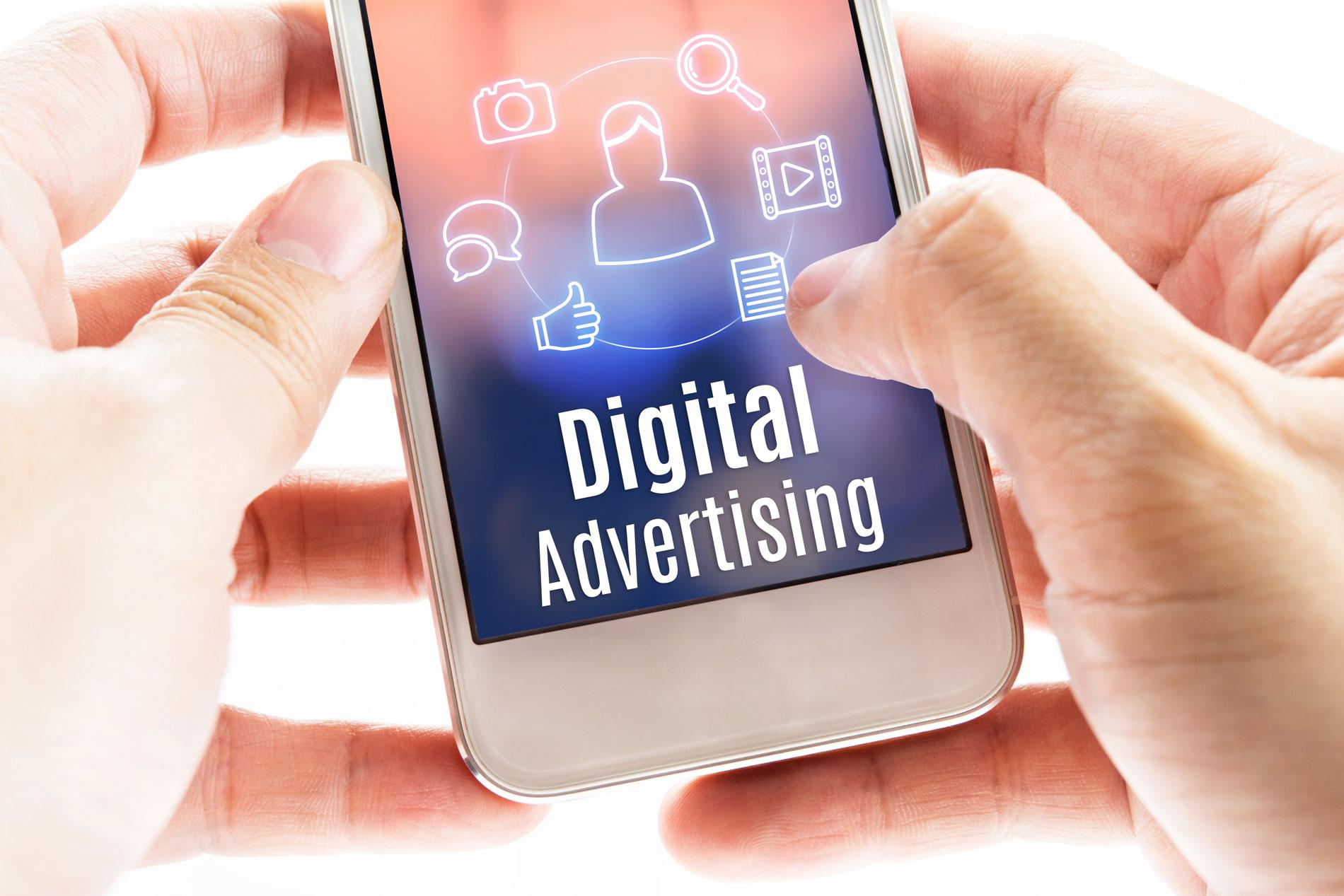 Digital Advertising on phone