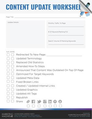 Content Update Worksheet Download