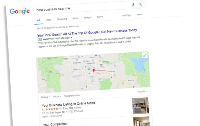 Local Listings Example for Local SEO